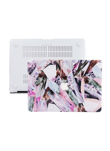 Mcstorey MacBook Air A1369 A1466 13 inç Kılıf Sert Kapak Koruyucu Hard ıncase Mermer 06-02-1492 Sarı